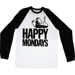Happy Mondays Unisex Raglan Tee: Logo
