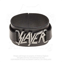 Slayer Leather Wrist Strap: Logo