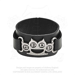 Five Finger Death Punch Leather Wrist Strap: Knuckle Duster