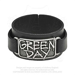 Green Day Leather Wrist Strap: Logo