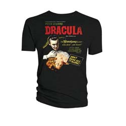 Hammer Films Unisex Tee: Dracula Classic Movie Poster (XX-Large Only)