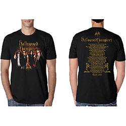 Hollywood Vampires Men's Tee: Photo Vampires 2018 Dates Back (Ex Tour/Back Print)