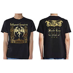 Hollywood Vampires Unisex Tee: Roxy 2018 World Tour (Ex Tour/Back Print)