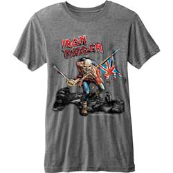 Iron Maiden Men's Fashion Tee: Trooper (Burn Out)