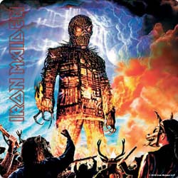 Iron Maiden Single Cork Coaster: Wicker Man