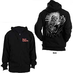 Iron Maiden Unisex Zipped Hoodie: No Prayer (Back Print)