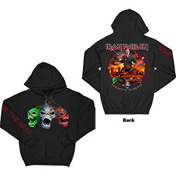 Iron Maiden Unisex Pullover Hoodie: LOTB Live Album (Arm & Back Print)