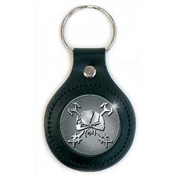 Iron Maiden Premium Keychain: Final Frontier Icon (Leather Fob)