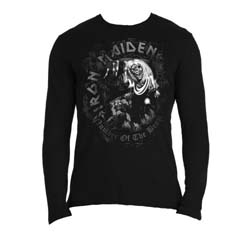 Iron Maiden Men's Long Sleeved Tee: Number of the Beast
