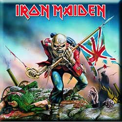 Iron Maiden Fridge Magnet: The Trooper