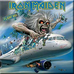Iron Maiden Fridge Magnet: Flight 666