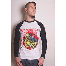 Iron Maiden Men's Raglan Tee: Piece of Mind