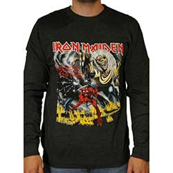 Iron Maiden Men's Sweatshirt: Number of the Beast with Puff Print Finishing