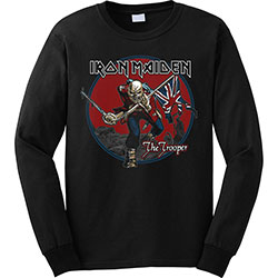 Iron Maiden Men's Sweatshirt: Trooper Red Sky