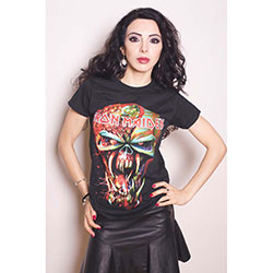 Iron Maiden Ladies Tee: Final Frontier with Skinny Fitting
