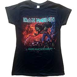 Iron Maiden Ladies Tee: From Fear to Eternity with Skinny Fitting