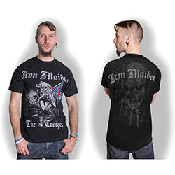Iron Maiden Men's Tee: Sketched Trooper (Back Print)