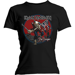 Iron Maiden Ladies Tee: Trooper Red Sky