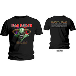 Iron Maiden Mens Tee: Legacy of the Beast Tour (Back Print)