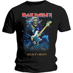 Iron Maiden Men's Tee: Eddie on Bass