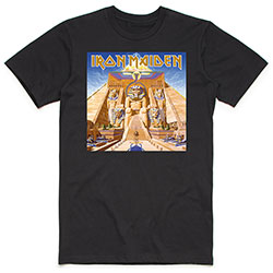 Iron Maiden Unisex Tee: Powerslave Album Cover Box