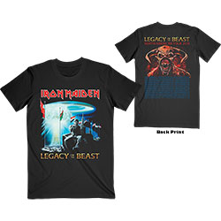 Iron Maiden Unisex Tee: Two Minutes to Midnight (Back Print)