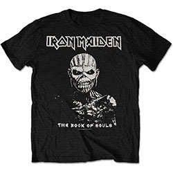 Iron Maiden Unisex Tee: The Book of Souls White Contrast