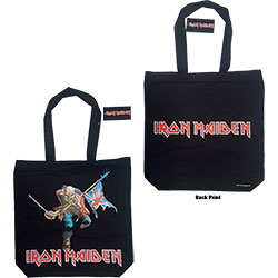 Iron Maiden Cotton Tote Bag: Trooper (with zip top)