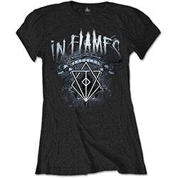 In Flames Ladies Tee: Battles Crest