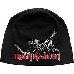 Iron Maiden Beanie Hat: The Trooper (Discharge Print)