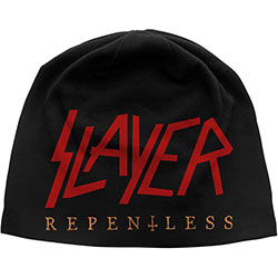 Slayer Beanie Hat: Repentless (Discharge Print)