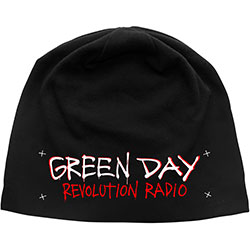 Green Day Beanie Hat: Revolution Radio (Discharge Print)