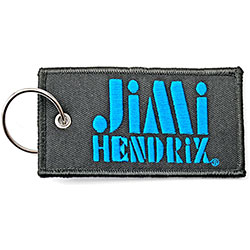 Jimi Hendrix Keychain: Stencil Logo (Double Sided Patch)