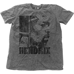 Jimi Hendrix Men's Fashion Tee: Let Me Live with Snow Wash Finishing