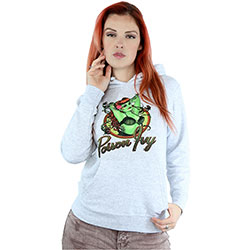DC Comics Ladies Pullover Hoodie: Bombshells Poison Ivy Badge (Small)