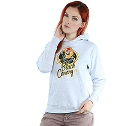 DC Comics Ladies Pullover Hoodie: Bombshells Black Canary