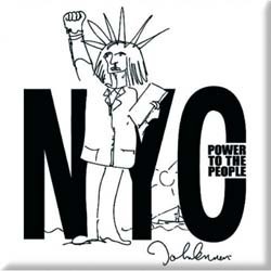 John Lennon  Fridge Magnet: NYC Power to the People