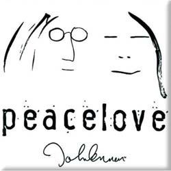John Lennon  Fridge Magnet: Peace & Love