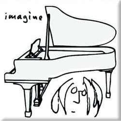 John Lennon  Fridge Magnet: Imagine