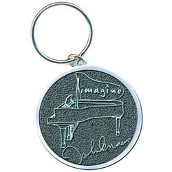 John Lennon Keychain: Imagine (Die-cast Relief)