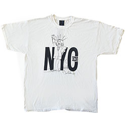John Lennon Unisex Premium Tee: NYC Power to the People (Back Print)