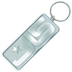 JLS Keychain: Chrome Logo (Die-cast Relief)