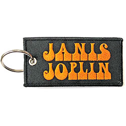 Janis Joplin Keychain: Logo (Double Sided Patch)