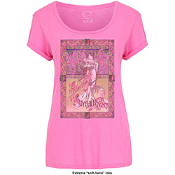 Janis Joplin Ladies Fashion Tee: Avalon Ballroom '67 with Soft Hand Inks