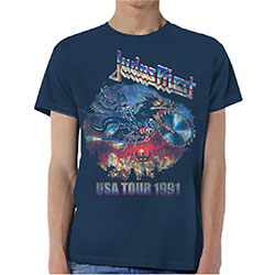 Judas Priest Unisex Tee: Painkiller US Tour 91