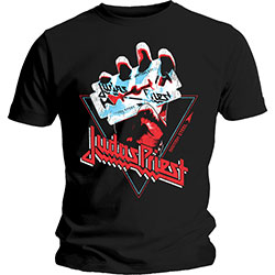 Judas Priest Unisex Tee: British Steel Hand Triangle