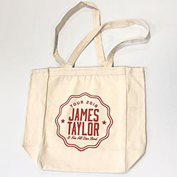 James Taylor Tote Bag: 2018 Tour (Ex. Tour)