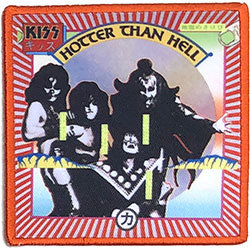 KISS Standard Patch: Hotter Than Hell (Album Cover)