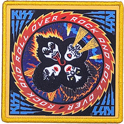 KISS Standard Patch: Rock And Roll Over (Album Cover)
