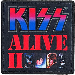 KISS Standard Patch: Alive II (Album Cover)